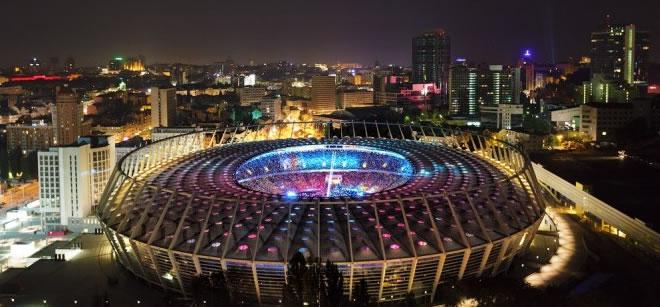 НСК Олимпийский, вид сверху