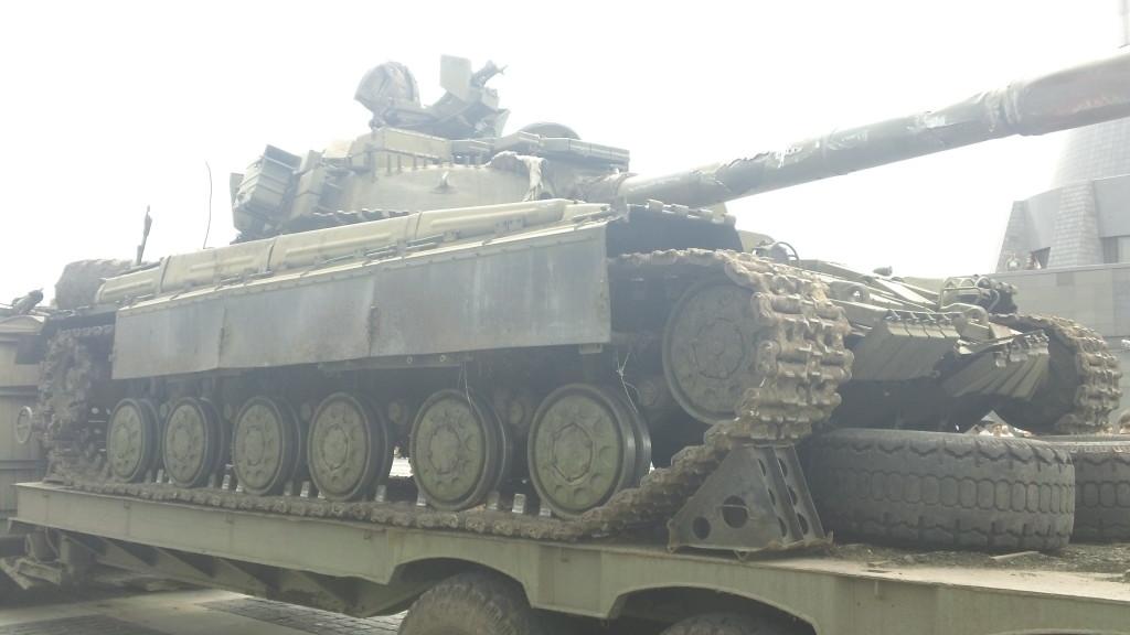 подбитый российский танк