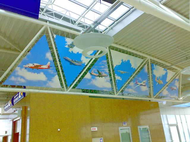 Натяжные пленки Demi-Lune в аэропорту Борисполь