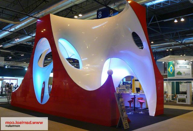 Объемный 3D стенд из натяжной пленки