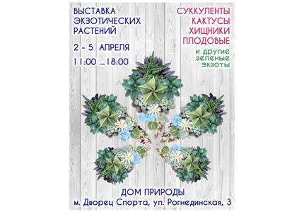 2-5 апреля в Киевском Доме Природы пройдет выставка кактусов и др. экзотических растений