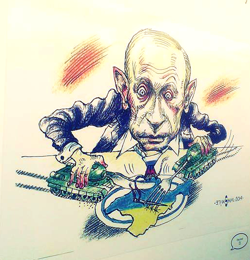 21 мая на Подоле открылась Международная выставка политических карикатур