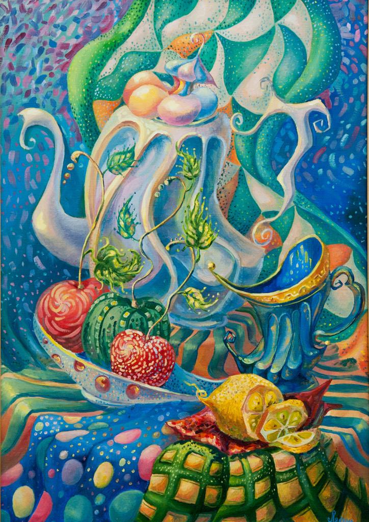 Лялина Марина, Вечернее чаепитие,50х70
