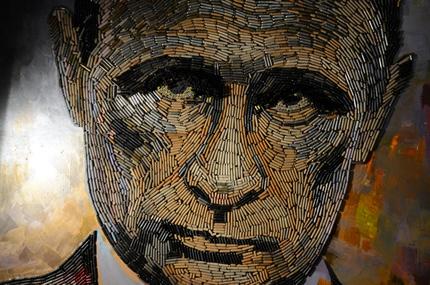 """В Арт-центре Я. Гретера появилась новая работа от Дарьи Марченко """"Лицо Войны""""(Портрет Путина)"""