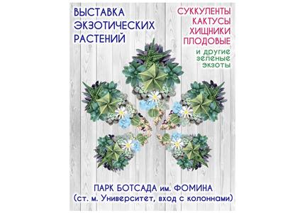 З 21 по 30 серпня в парку Ботанічного саду ім.Фоміна відбудеться виставка кактусів і екзотичних рослин