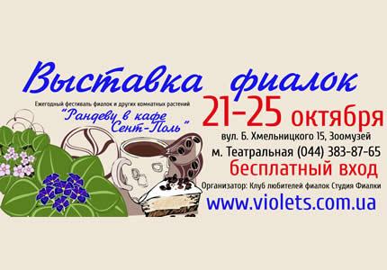 З 21 по 25 жовтня в археологічному музеї відбудеться щорічний фестиваль фіалок