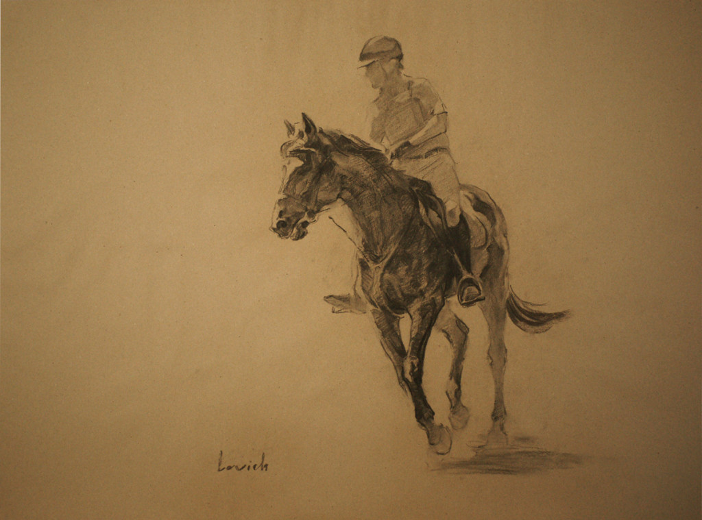 С 8 по 28 апреля в галерее Парсуна пройдет выставка Александра Левича «Fine Horsemen»
