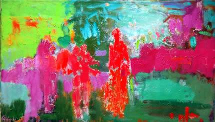 С 26 мая по 26 июня в LERA LITVINOVA GALLERY пройдет выставка вдохновляющей абстрактной живописи «Introверсия» Ольги Морозовой