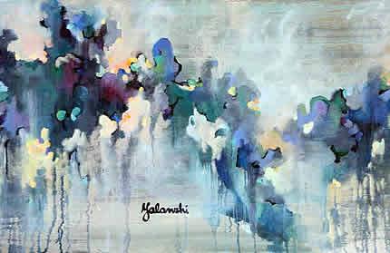 С 20 августа по 21 октября в арт-галерее «Мануфактура» проходит выставка Юлии Яланжи «Цветы вдохновения»
