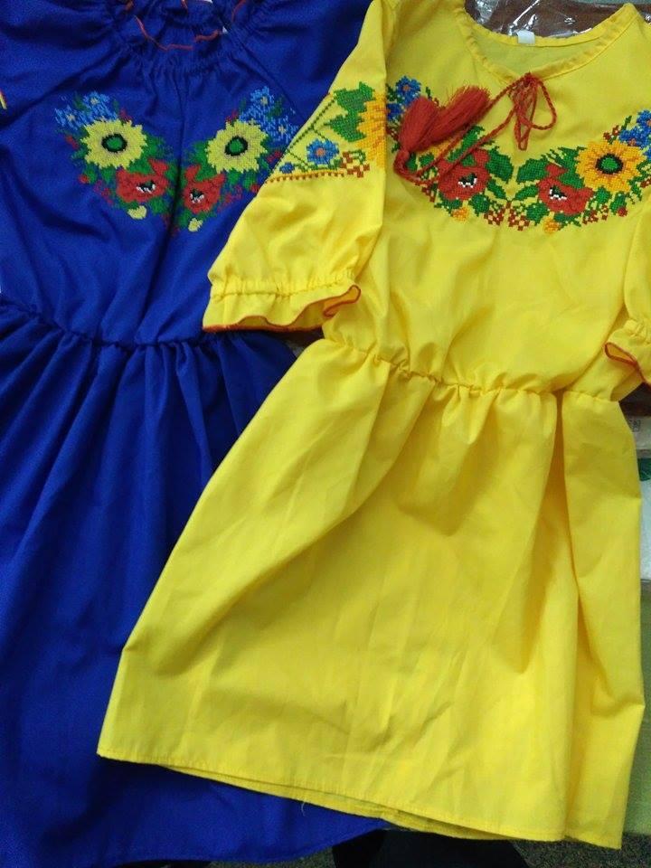 Красивые платья для девочек в украинском стиле