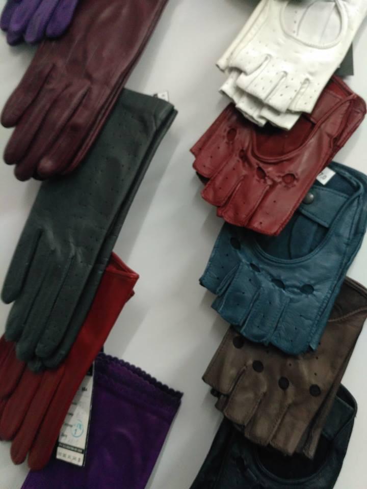 Кожаные перчатки с открытыми пальцами