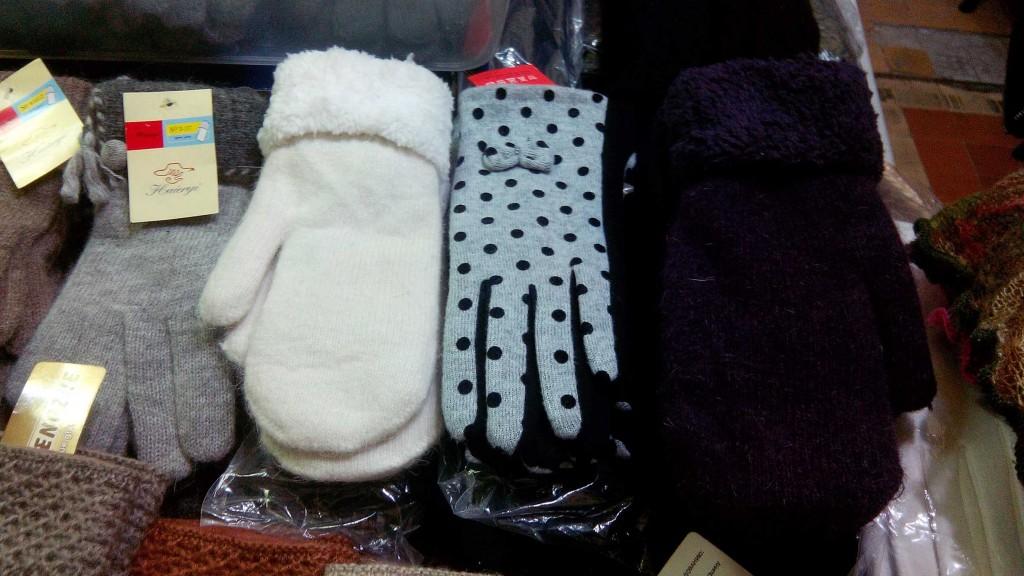 Перчатки и варежки на выставке