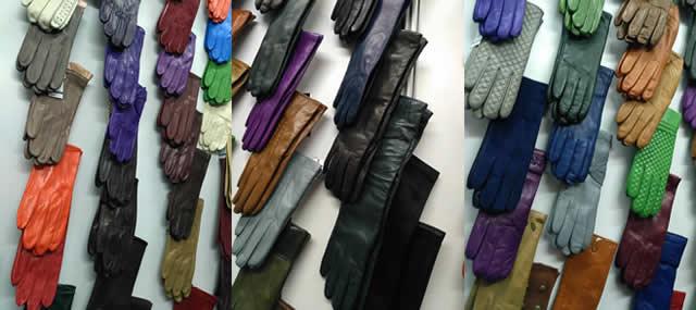 Кожаные мужские и женские перчатки