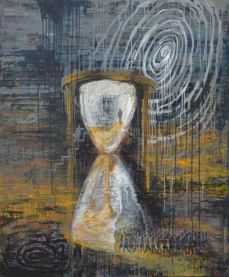 "Таня Василенко, ""Идентификация"", из серии ""Время"", 180 х 150 см, холст, акрил."
