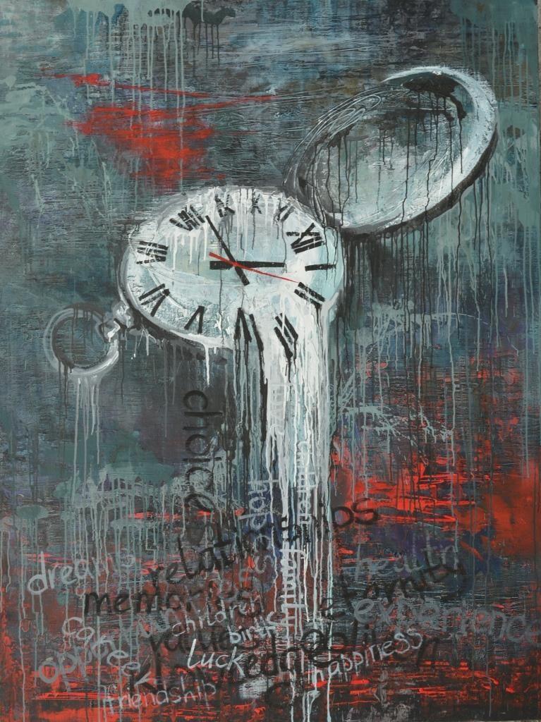 """Таня Василенко, """"Выбор ценностей"""", из серии """"Время"""", 200 х 180 см, холст, акрил."""