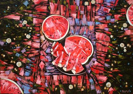 С 7 декабря по 4 февраля 2018 года в LERA LITVINOVA GALLERY пройдет выставка современной живописи Анастасии Крайневой «Объем цвета»