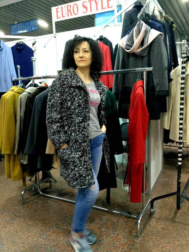 Серое пальто для женщин Киев