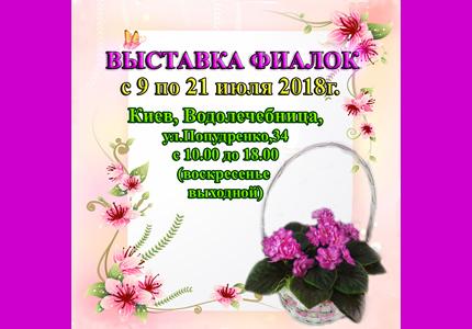С 9 по 21 июля на территории дарницкой водолечебницы пройдет выставка фиалок