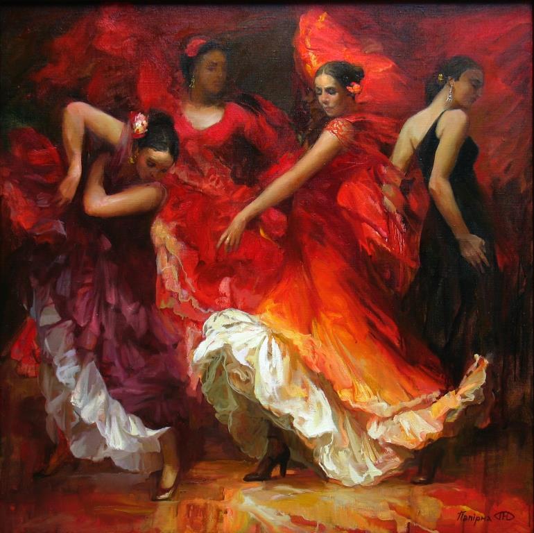 фламенко папирна 2011г х.м. 90х90