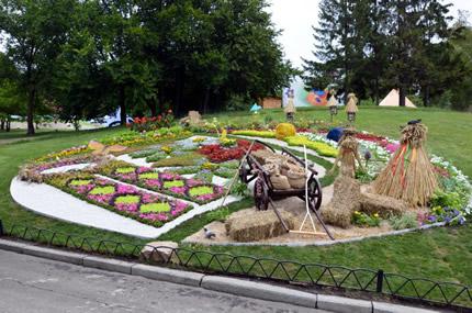 С 17 августа по 16 сентября на Певческом поле проходит выставка цветов «Волшебный украинский миф»
