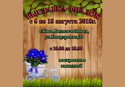 С 6 по 8 августа на территории дарницкой водолечебницы пройдет выставка фиалок
