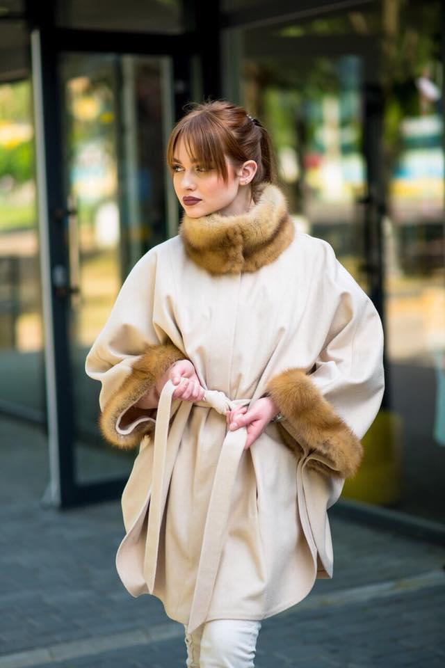 Кимоно с натуральным мехом соболя