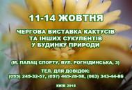 С 11 по 14 октября в Доме природы пройдет выставка кактусов и других суккулентов