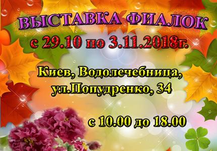 С 29 октября по 3 ноября на территории дарницкой водолечебницы проходит выставка фиалок