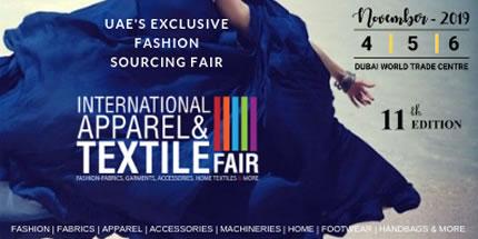 4-6 ноября в Международном торговом центре Дубая (ОАЭ) пройдет выставка  International Apparel & Textile Fair