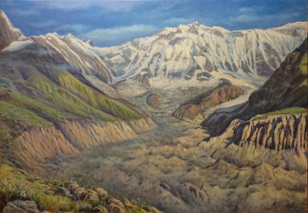 Гора Анапурна (8091м), 140х200, х.м.,2018,