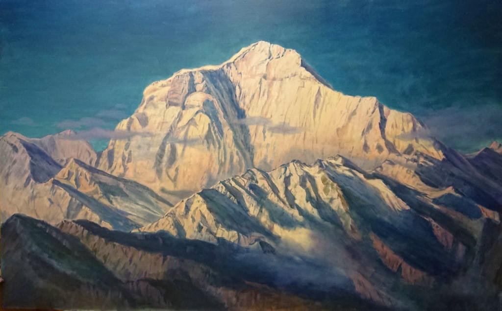 Гора Дхаулагири (8167м), 140х220, х.м., 2018