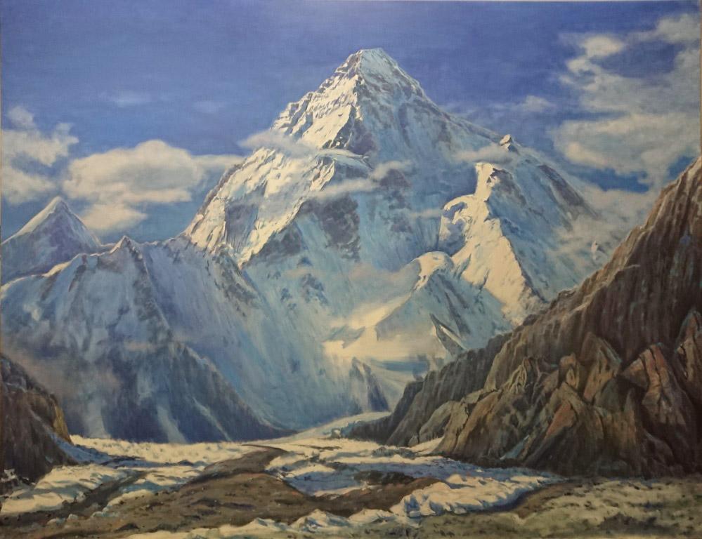 Гора К2 или Чогори,8611м, 140х180,х.м.,2018