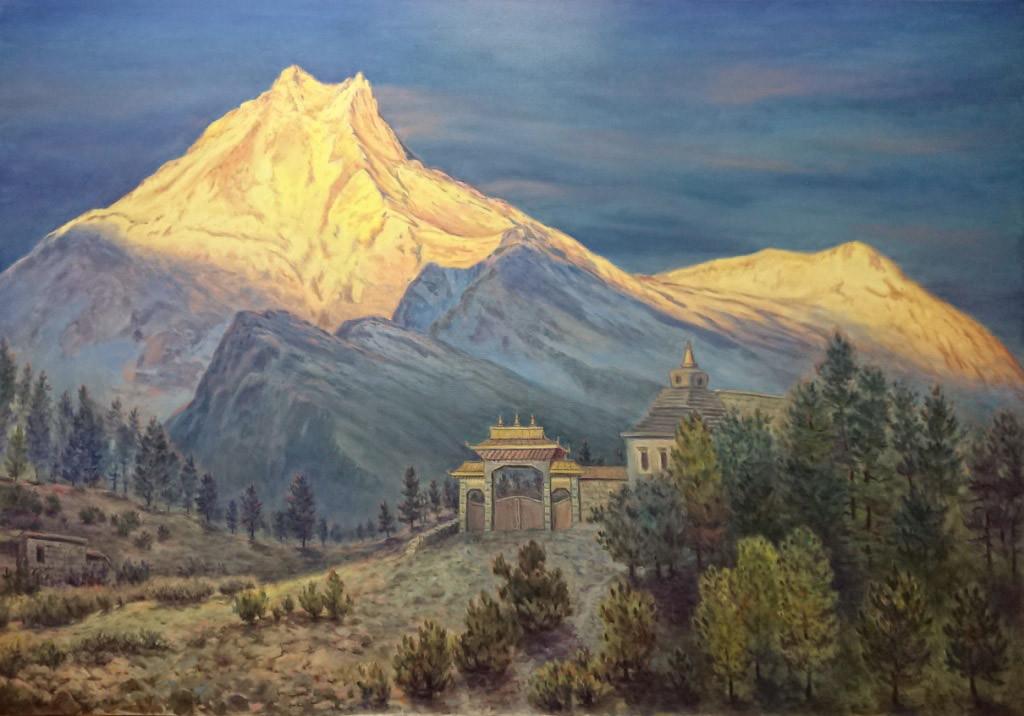 Гора Манаслу (8156м), 140х200, х.м.,2018