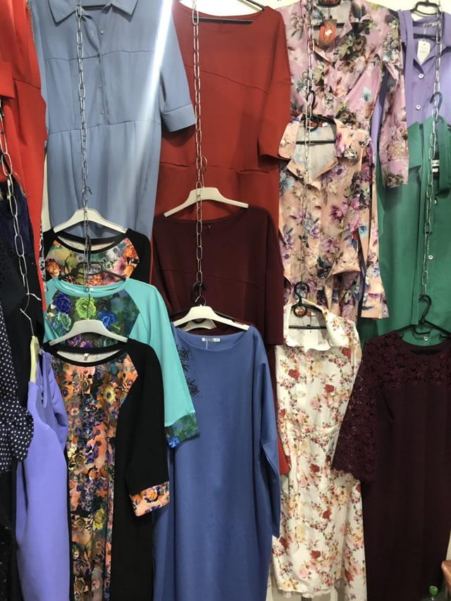 трикотажные платья женские на ярмарке