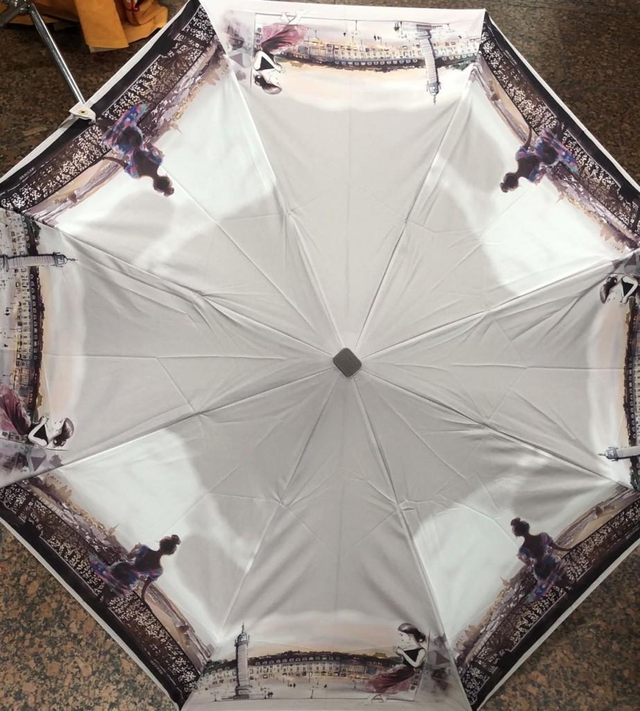 серый зонтик