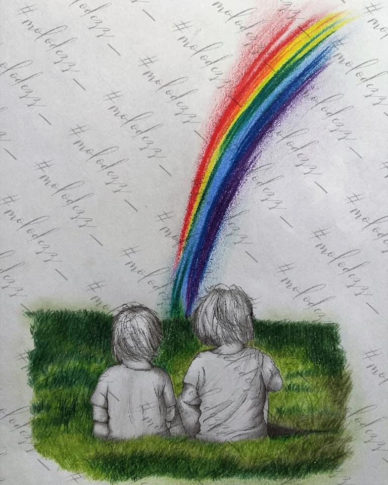 Екатерина Молодец - дети и радуга