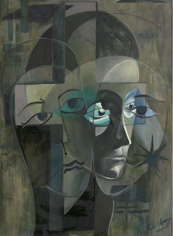 НIКОЛЬ ЛЕМЕР Д'АҐАДЖІО Амбівалентність. Полотно, олія, 150х110 см, 1969