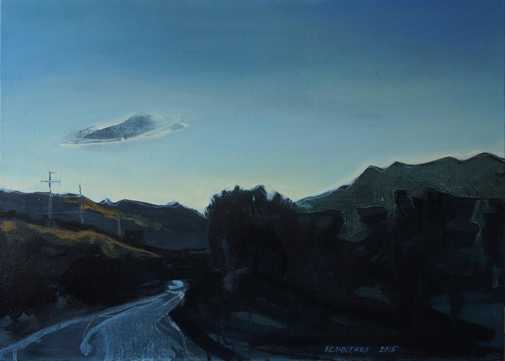 2015, Дорога в Судак #9. холст, акрил, масло, 50х70см