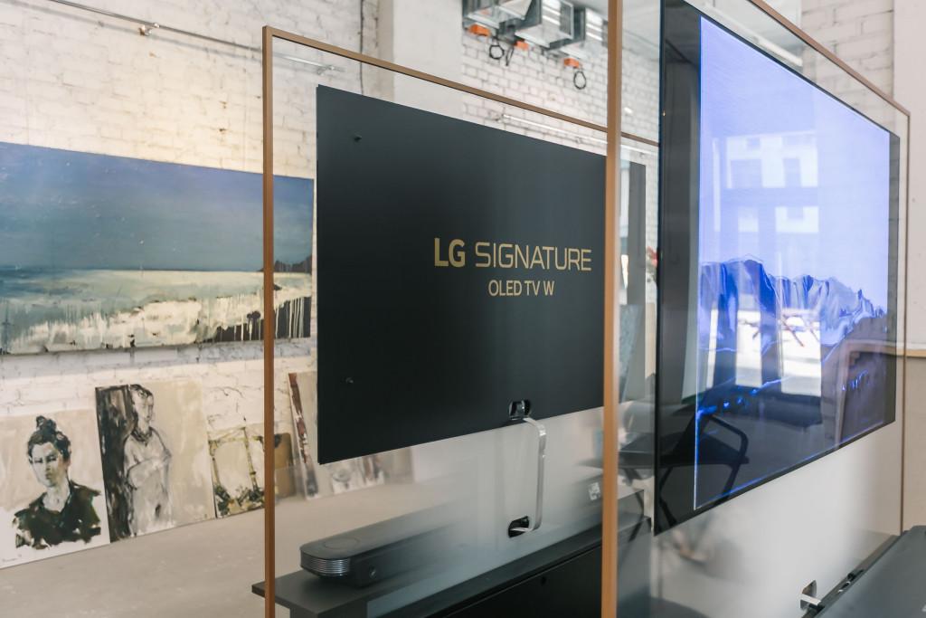 Презентация творческой работы на телевизоре LG