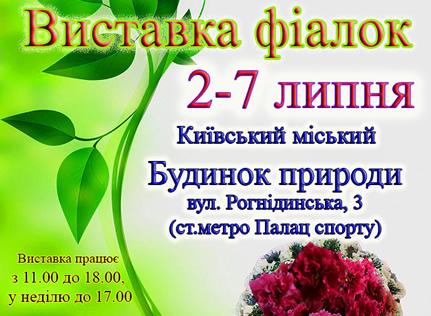 Со 2 по 7 июля в Доме природы пройдет выставка фиалок