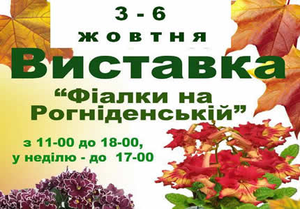 """С 3 по 6 октября в Доме природы пройдет выставка """"Фиалки на Рогнединской"""""""