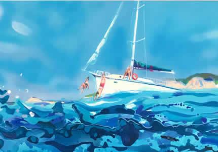 С 12 ноября по 31 декабря в Центральном доме художника пройдет выставка молодых художников Антона Гудикевича и Марии Журиковой «Вибрации лета»
