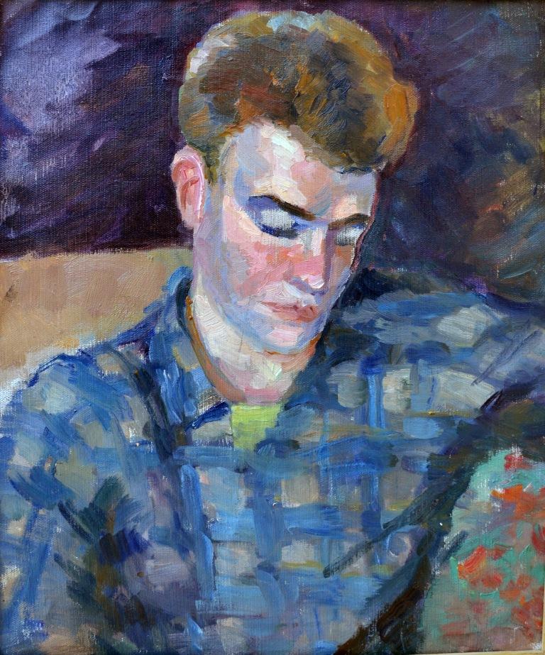 Н Котек портрет студента (сина) 1957-