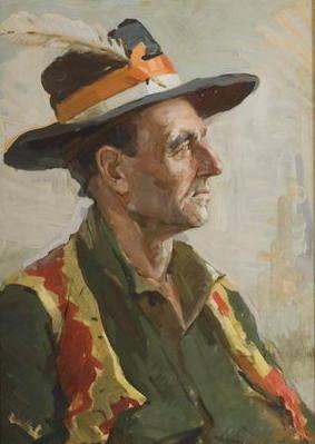 Тайбер Павло Абрамович портрет гуцула 1964