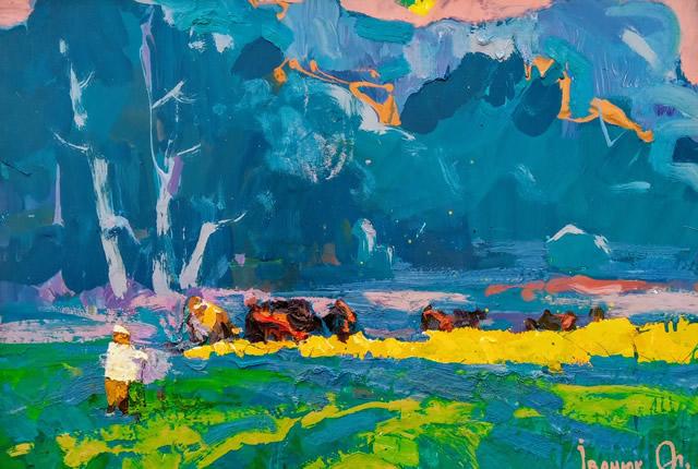 Картина Алексея Иванюка на художественной выставке