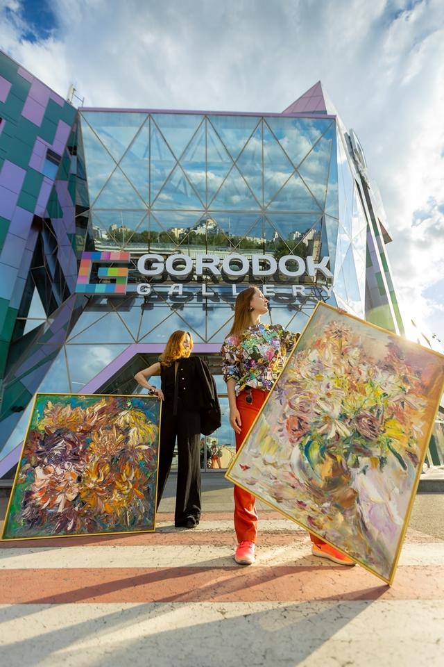 ТЦ «Gorodok Gallery» выставка проект Леоноры Янко и Леры Литвиновой «Культурное место»