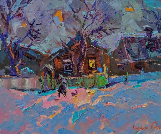 Картина живописи Алексея Иванюка на выставке в Киеве в арт галерее Мануфактура