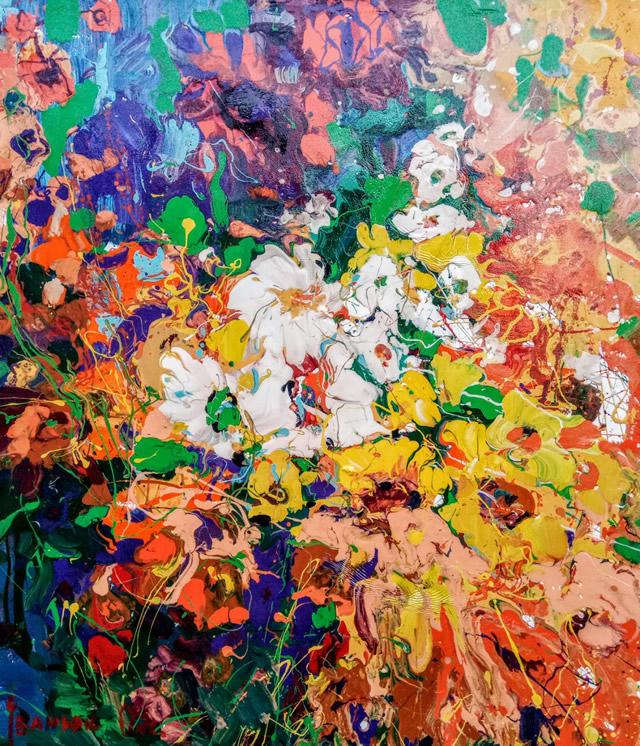 Картина Оксаны Иванюк на художественной выставке