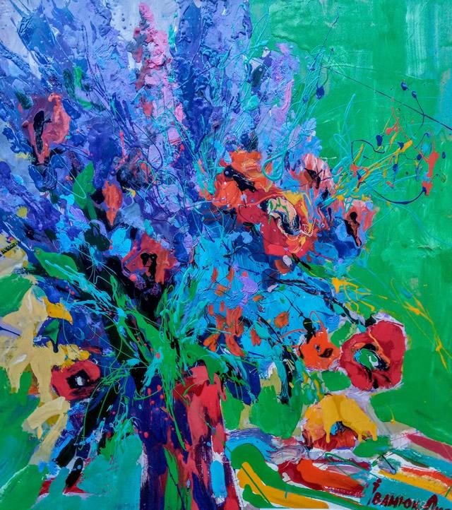 Картина Оксаны Иванюк на выставке живописи