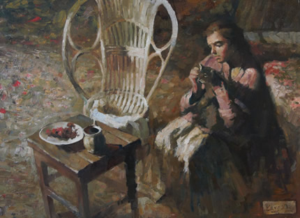 С 21 августа до 21 октября в арт-галерее «Мануфактура» пройдет выставка живописи Дмитрия Чауса «Тень Королевы»